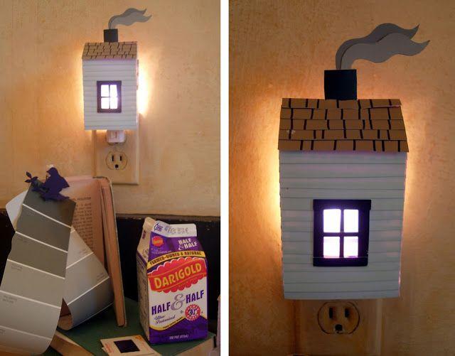 We love this night light made from repurposing a pint milk #carton! via hutch studio