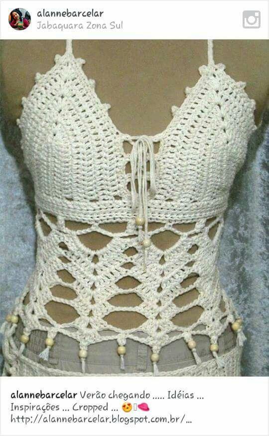 Crocheted festival boho lace top shirt camisole | Danika | Pinterest ...