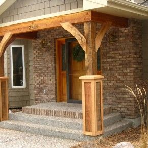Elegant Barn Wood Exterior Images | ... Barn Wooden Porch Columns With Brick  Exposed Wall Part 14
