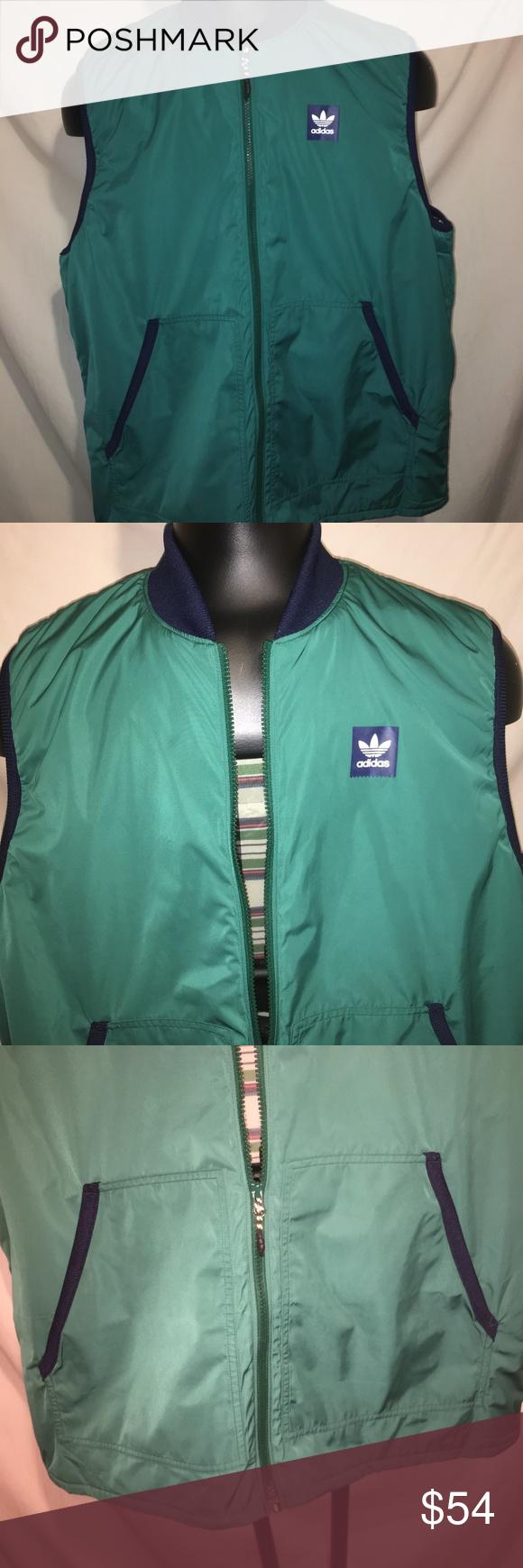 Decepcionado Perspectiva Sudán  Adidas Men's Meade Vest Green Jacket Size 2XL Adidas Originals Men's Meade  Vest Jacket Skateboarding. It is a men…   Adidas men, Green jacket, Adidas  originals mens