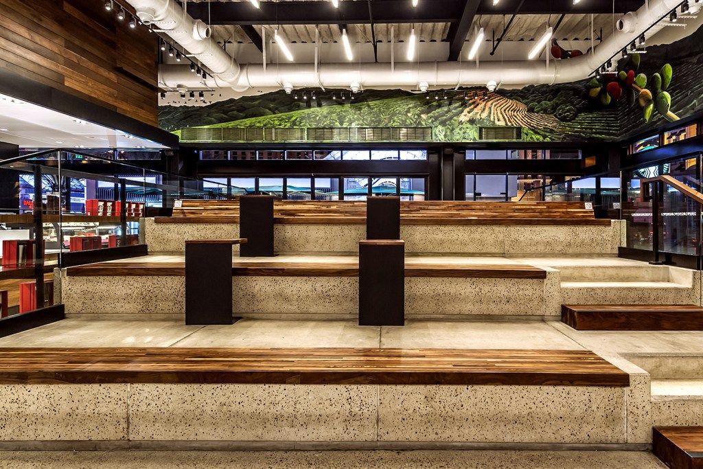 Starbucks Latest Location Sports Stadium Seating Cafe
