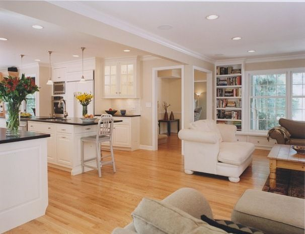 Open Concept Floor Plans 2 Story Colonial Before And After