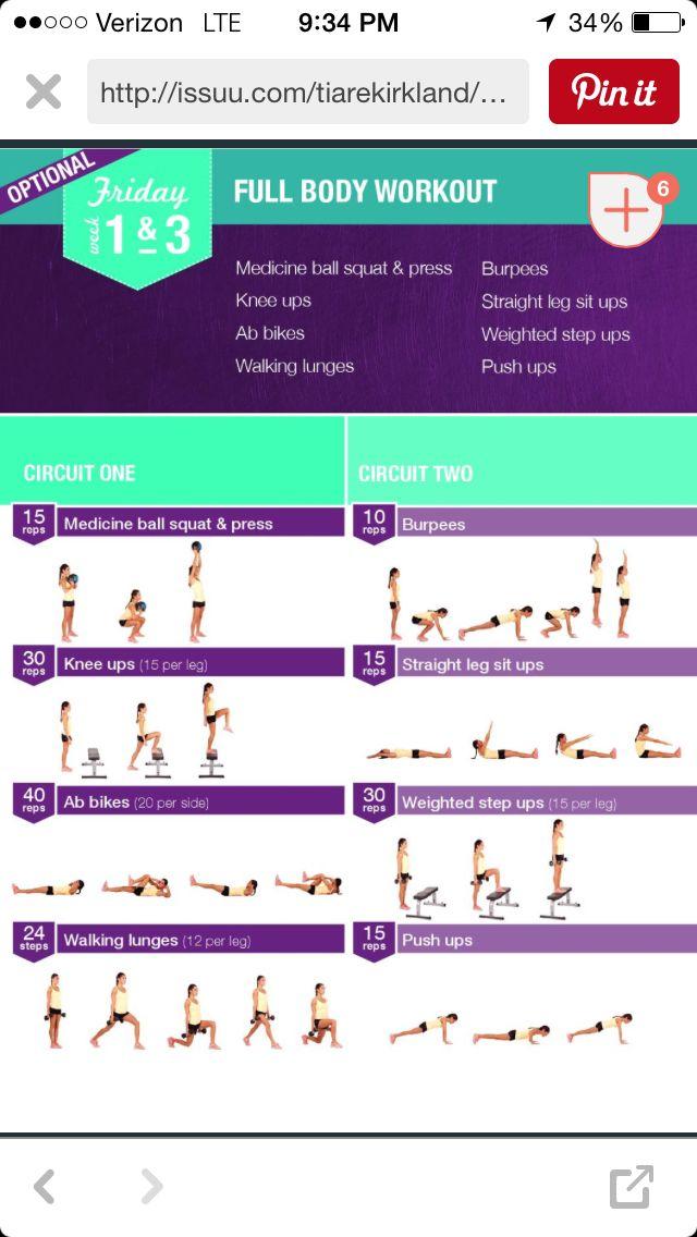 Week 1 Friday Workouts Kayla Itsines Kayla Itsines Workout Bikini Body Guide Y Kayla Workout
