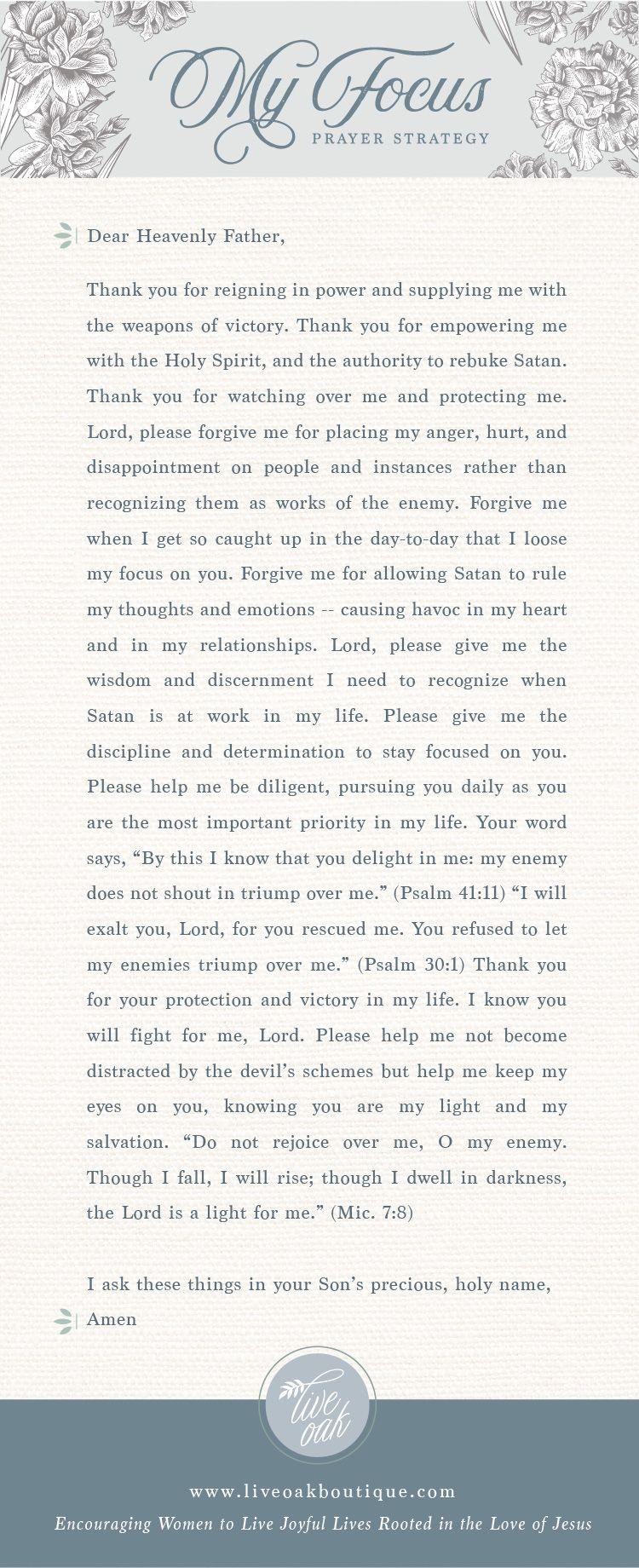 Fervent: Prayer Strategy for Focus | Pinterest | Fervent prayer ...
