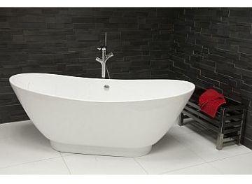 Quinta Slim 1750mm Liquid Acrylic Free Standing Bath
