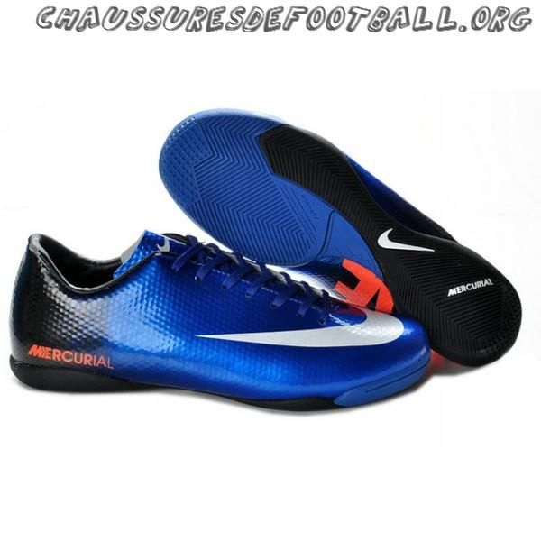 competitive price 02c2b ed68b Bleu Noir Blanc Nike Mercurial Vapor IX IC CR9 Victory IV IC Indoor  Chaussures de football ...