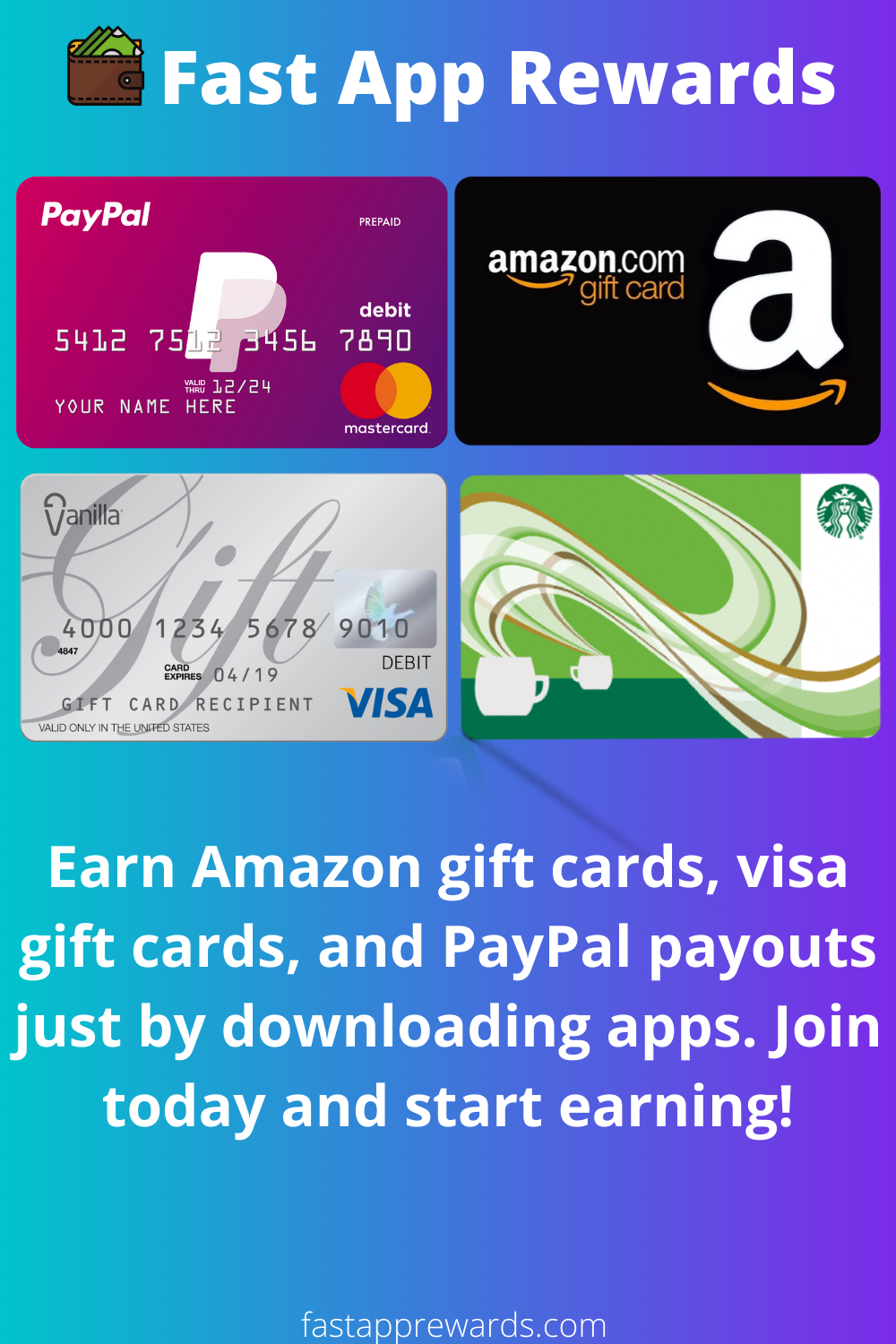 Try Fast App Rewards Visa Gift Card Id Card Template Amazon Gift Cards