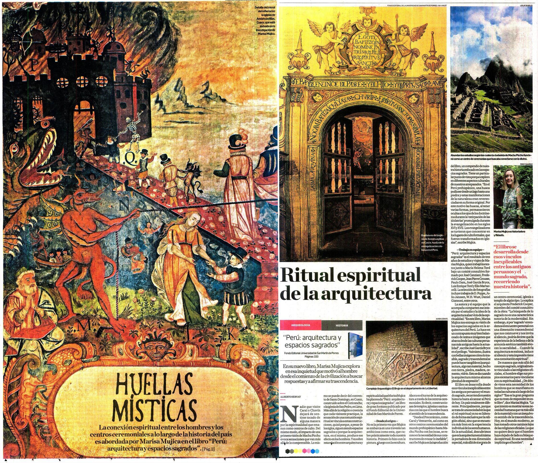 Ritual espiritual de la arquitectura | Fuente: Diario El Comercio, Cuerpo C | Fecha de publicación: 20.03.16