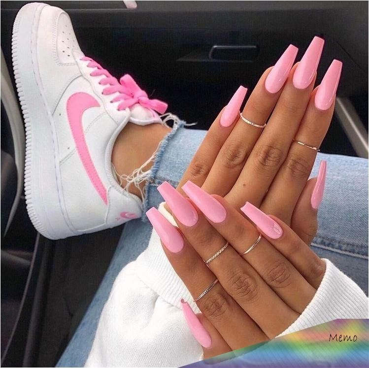Sep 24 2019 Cute/long/coffin/trendy/acrylic/nails/goals/barbie tingz/pink