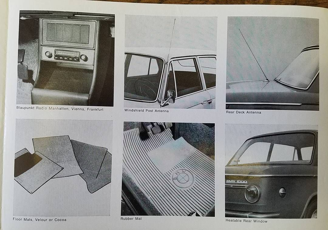 Early Bmw 1600 Accessories Brochure Part 1 Of 3 Tbt