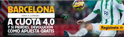 betfair Barcelona gana al Cordoba cuota 4 liga 20 diciembre
