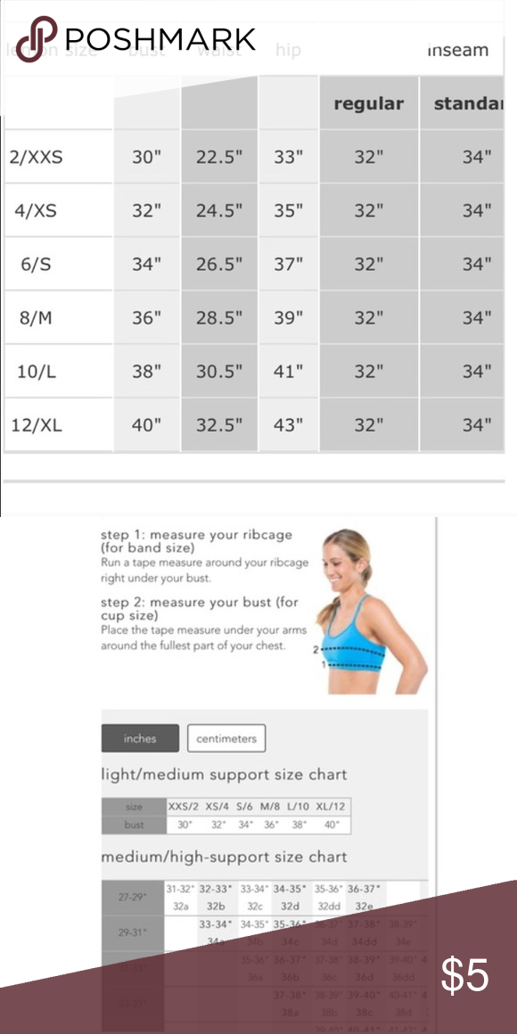 Lululemon Size Chart Check Out My Closet For New Added Weekly In All Diffe Sizes Styles Athletica Intimates