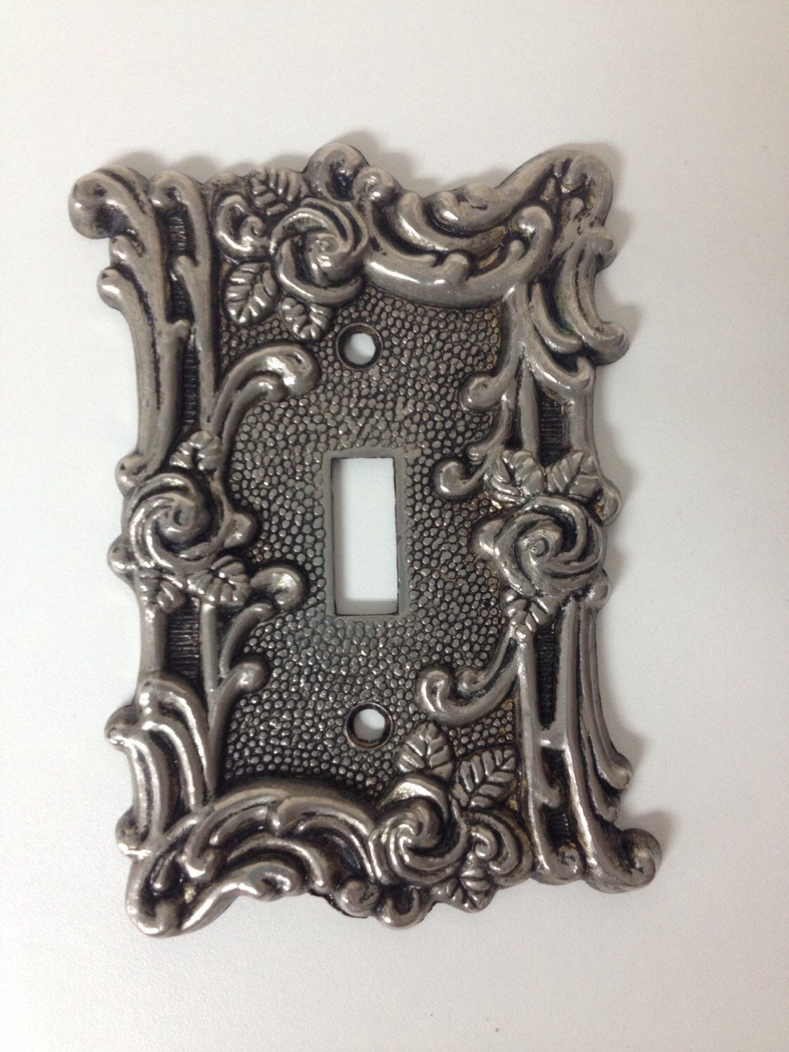 Vintage Light Switch Plate Covers Silver Light Switch Plate Cover Vintage 1960 S American Tack