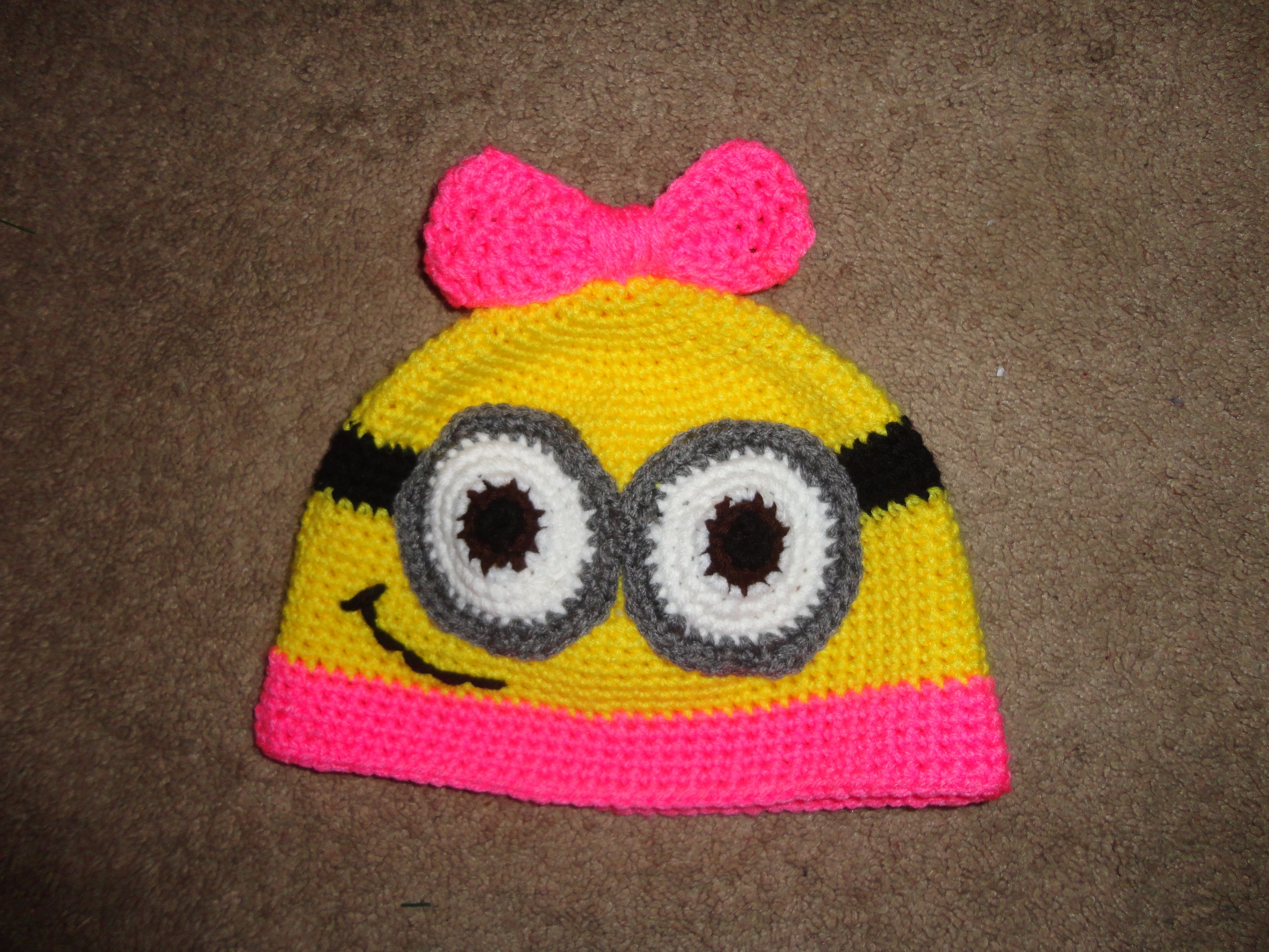 Girl minion hat with bow its so happy minions pinterest girl minion hat with bow its so happy bankloansurffo Choice Image