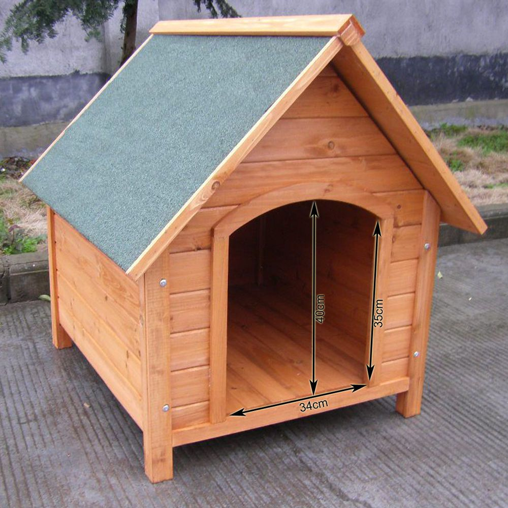 Weather Proof Pet Puppy Wooden Dog Kennel House Indoor Outdoor