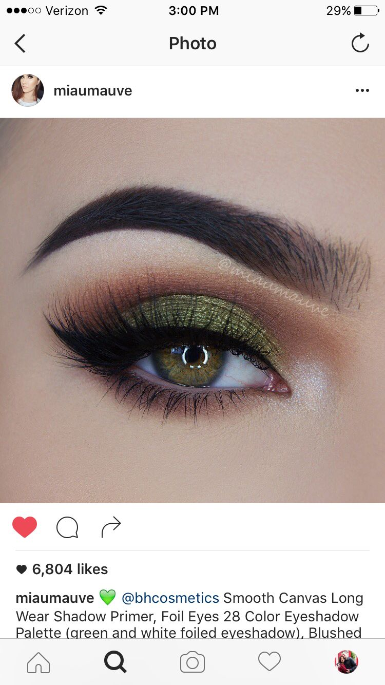 olive green eyeshadow look makeup<< this could be good witch