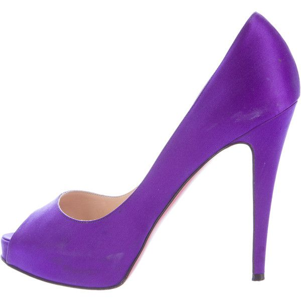 726755381b9 Pre-owned Christian Louboutin Satin Hyper Very Prive Pumps ($345 ...
