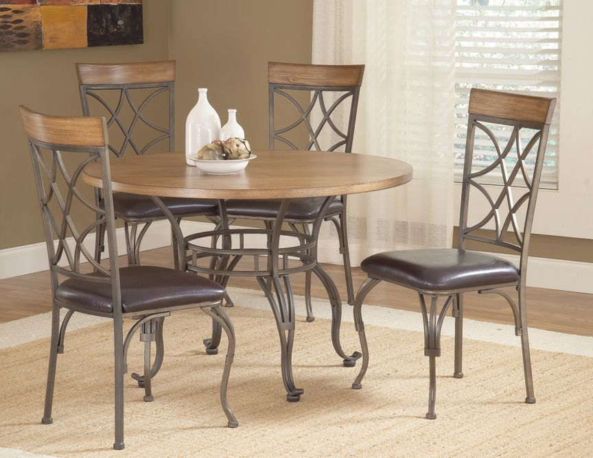 Gorgeous wood and metal pub dining set