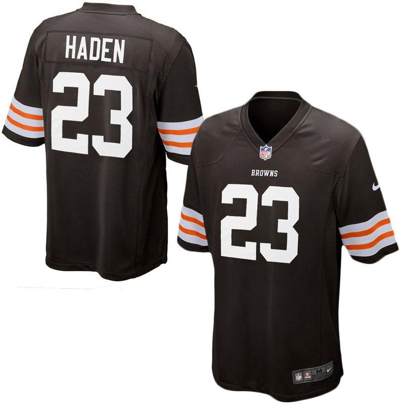 the best attitude 8c4df cf3db Joe Haden Cleveland Browns Historic Logo Nike Youth Team ...