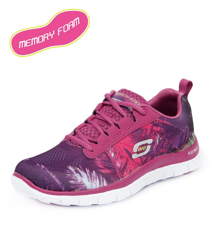 Skechers Flex Appeal Trade Winds Raspberry Women Shoes Sneakers Comfort  Sneakers