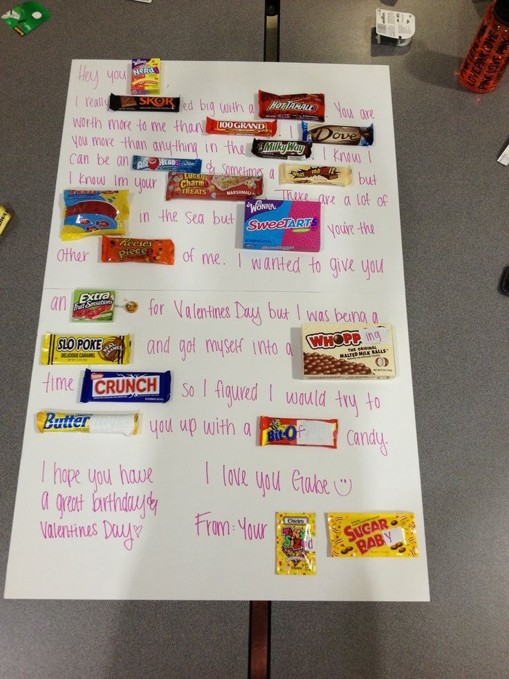 candy posters for boyfriends teens | candy bar poems for birthday, Ideas