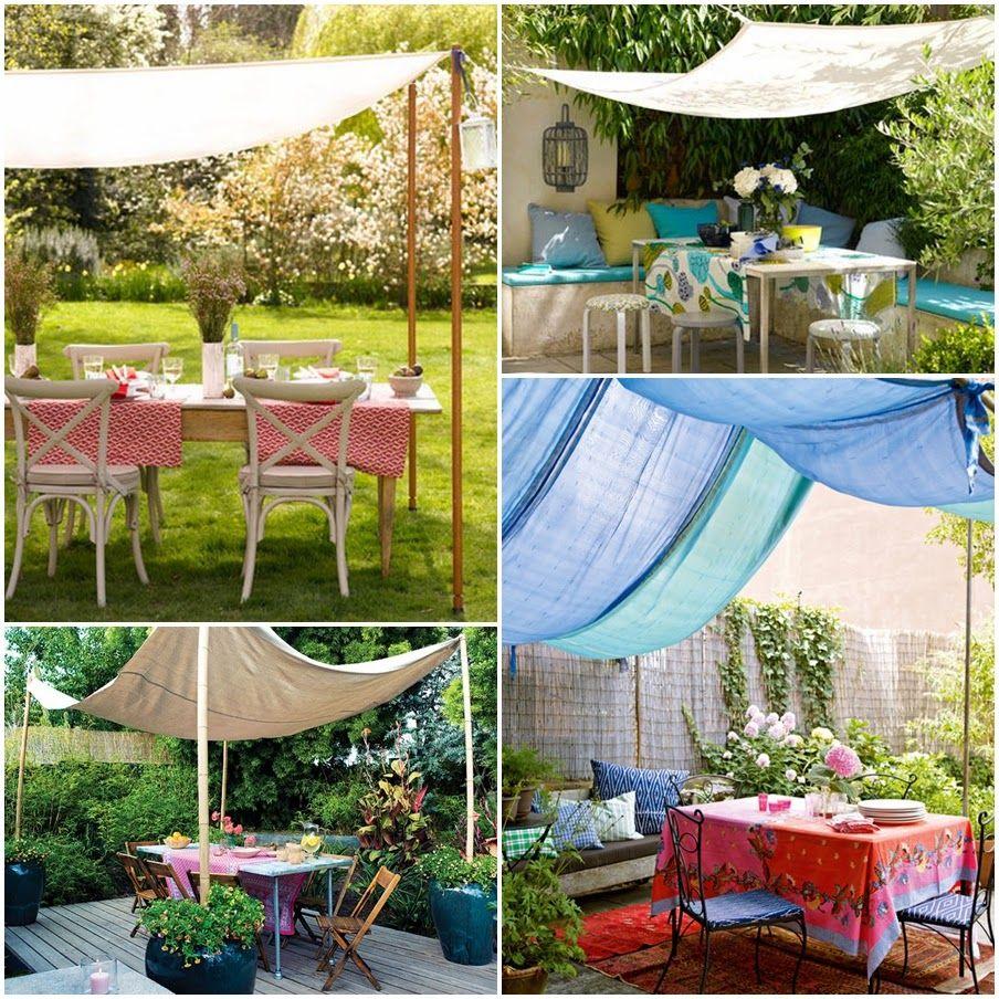 I d e a telas y tejidos al aire libre terraza for Diseno de fuente de jardin al aire libre