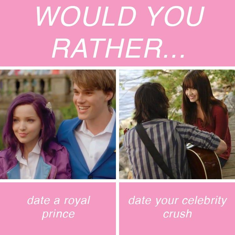 would you rather questions about crushes dating