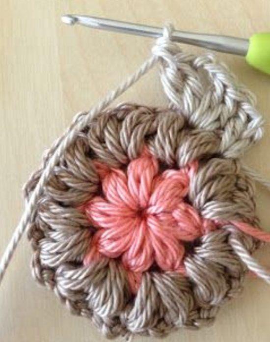Crochet Puff Flower Blanket Free Pattern   Pinterest   Tejido ...