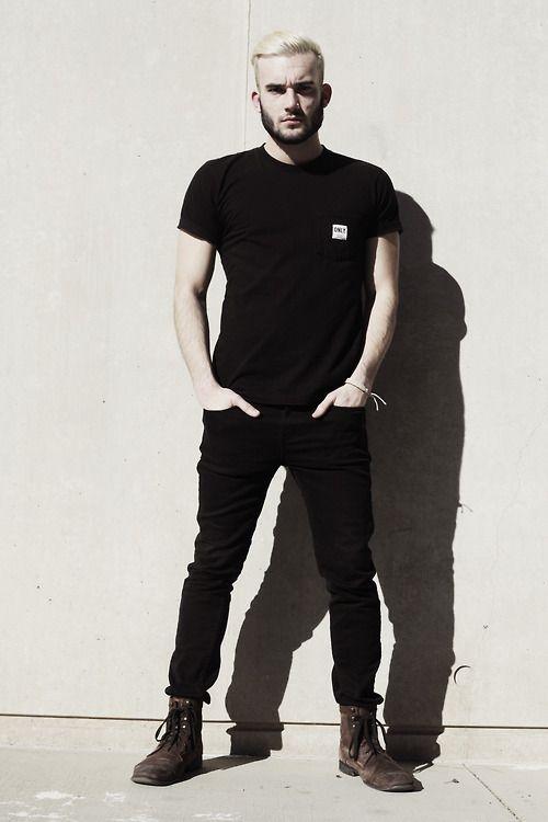 #guys #street #fashion #menswear #style #streetstyle #black #denim #skinny #jeans #brown #boots