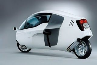 MonoTracer motorcycle.  A covered motorcycle