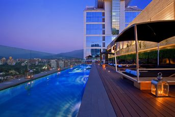 Incredible View For Your Poolside Lounging In Santiago Chile Rooftop Poolluxury Hotelshotels