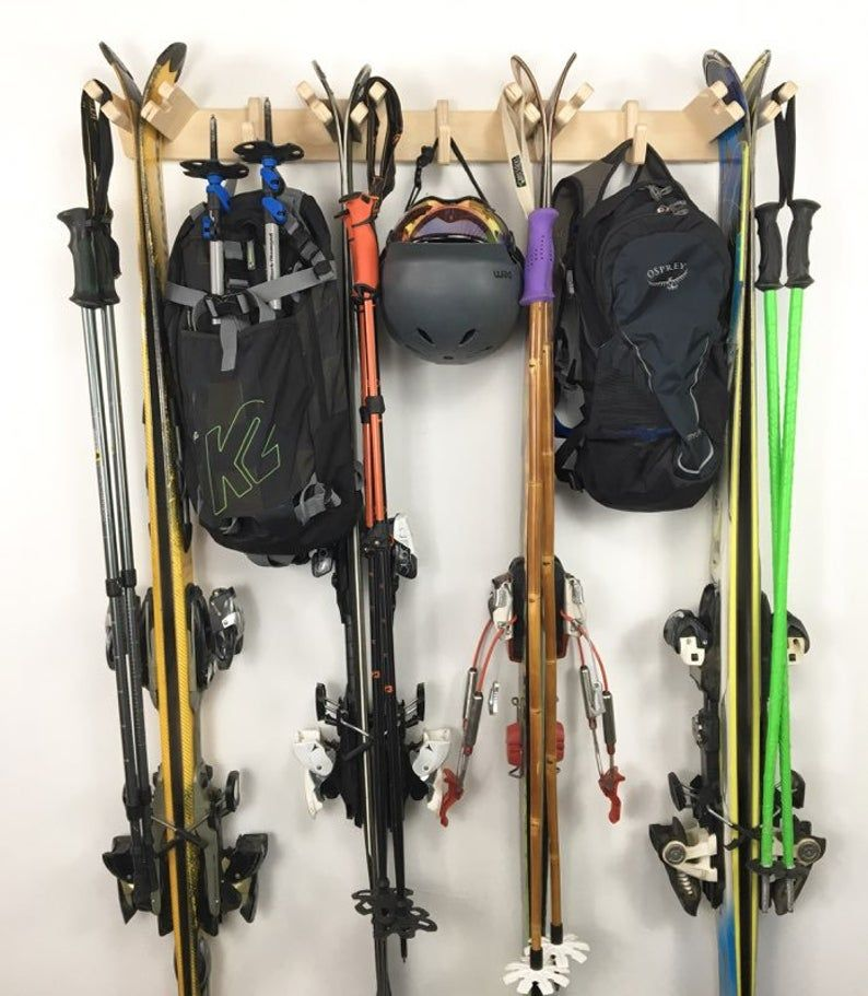 Vertical Ski Storage Rack en 2020 | Casier rangement, Ski, Rangement
