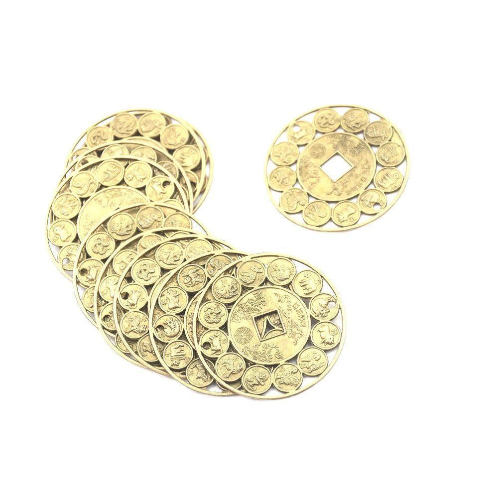 Auspicious Lucky Chinese Zodiac Feng Shui Coin Good Luck Prosperous Protect yu