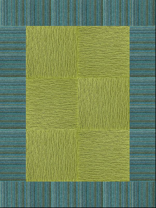 DISCOUNT CARPET TILES GREY LIME GREEN STRIPE