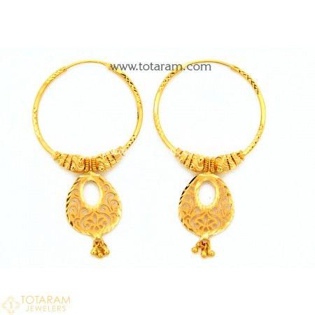 Gold Hoop Earrings Simple Daily Use