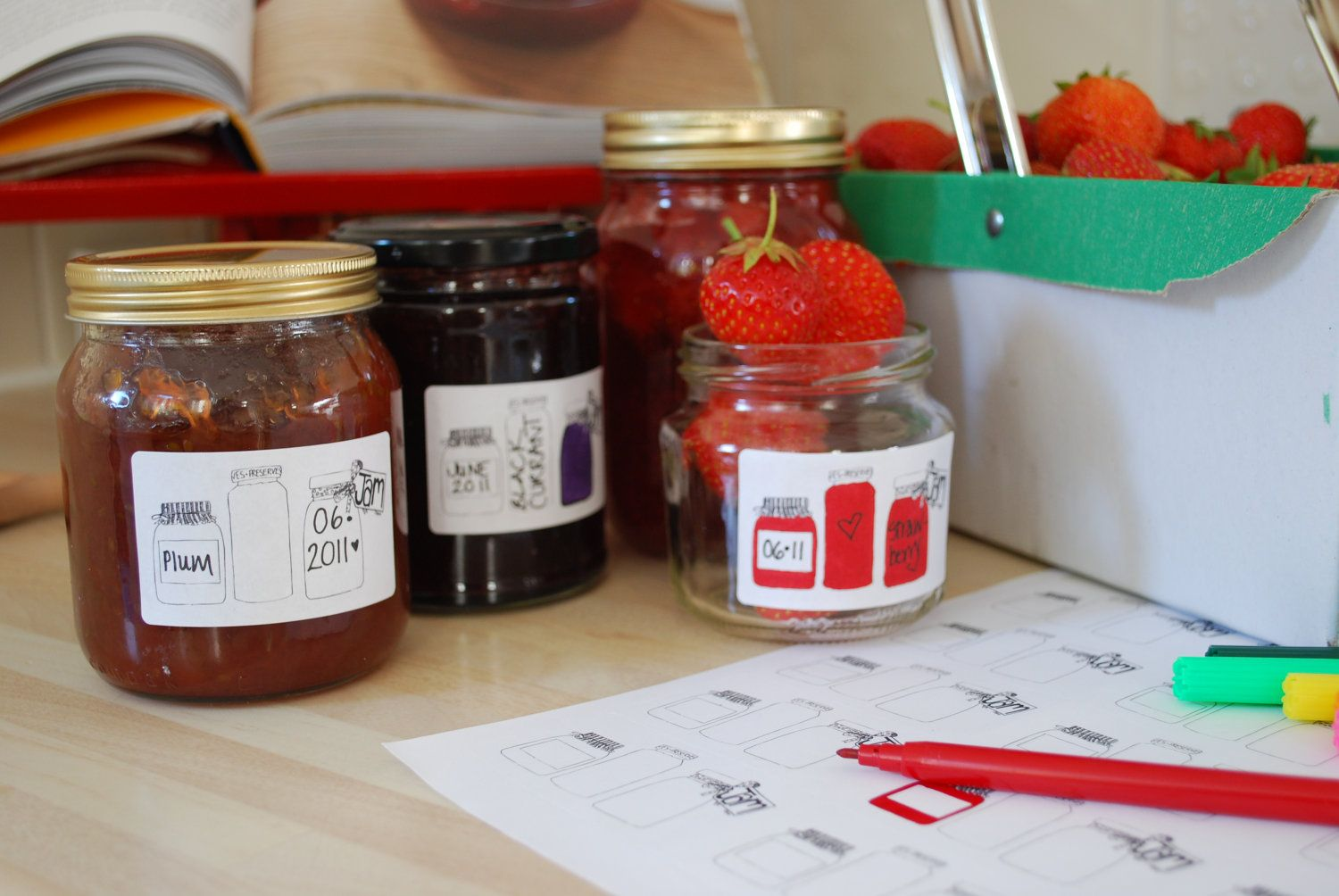 Downloadable Quirky Jam Labels Canning Preserving Pinterest
