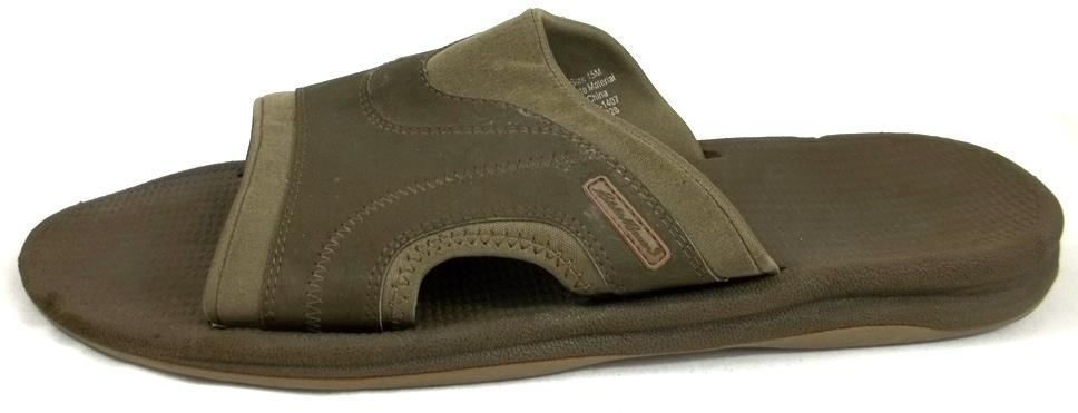 a04bf896880 Eddie Bauer Shoes Mens Size 15 M Brown Slides Sandals  EddieBauer  Slides