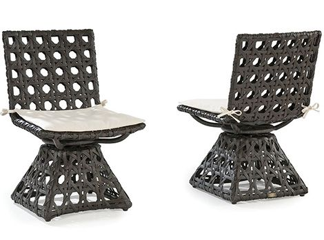 Synthetic Wicker Outdoor Furniture Laneventure Swivel Chairs