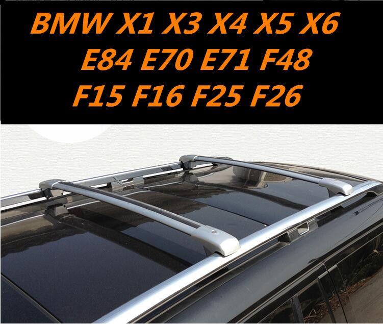 Car Aluminum Roof Rack Rail Baggage Luggage Cross Bar For Bmw X1 X3 X4 X5 X6 E84 E70 E71 F48 F15 F16 F25 F26 With Lock Aluminum Roof Roof Rack Audi