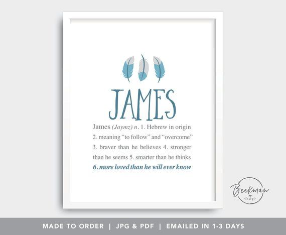 Boho Baby Boy Name Art Printable Feathers Nursery Wall Art Etsy Baby Boy Names Personalized Baby Shower Gifts Baby Names And Meanings