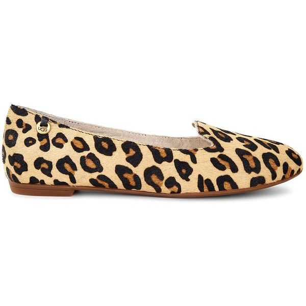 Ugg Blyss Leopard Print Flats 120 Liked On Polyvore Featuring Shoes Flat Pump Polka Dot Pumps And
