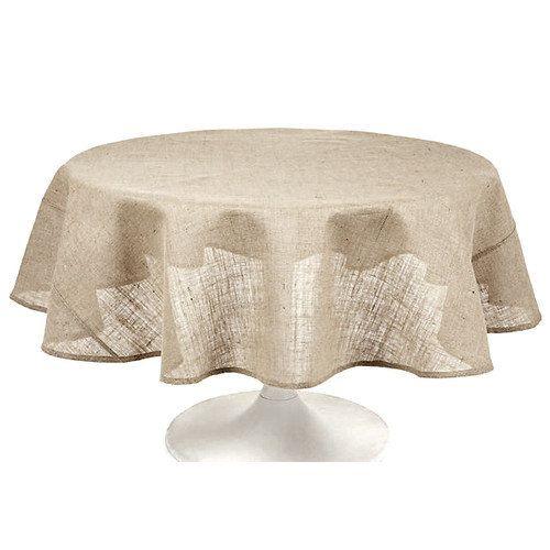 Walmart Couleur Nature Burlap Round Tablecloth Burlap Tablecloth Round Tablecloth Sizes Table Cloth