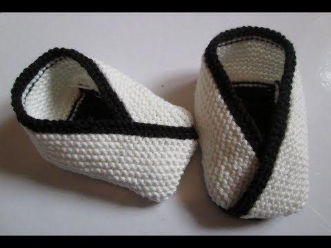 Diy tuto apprendre a tricoter des chaussons de bebe kimono - Bricolage facile a faire pour adulte ...