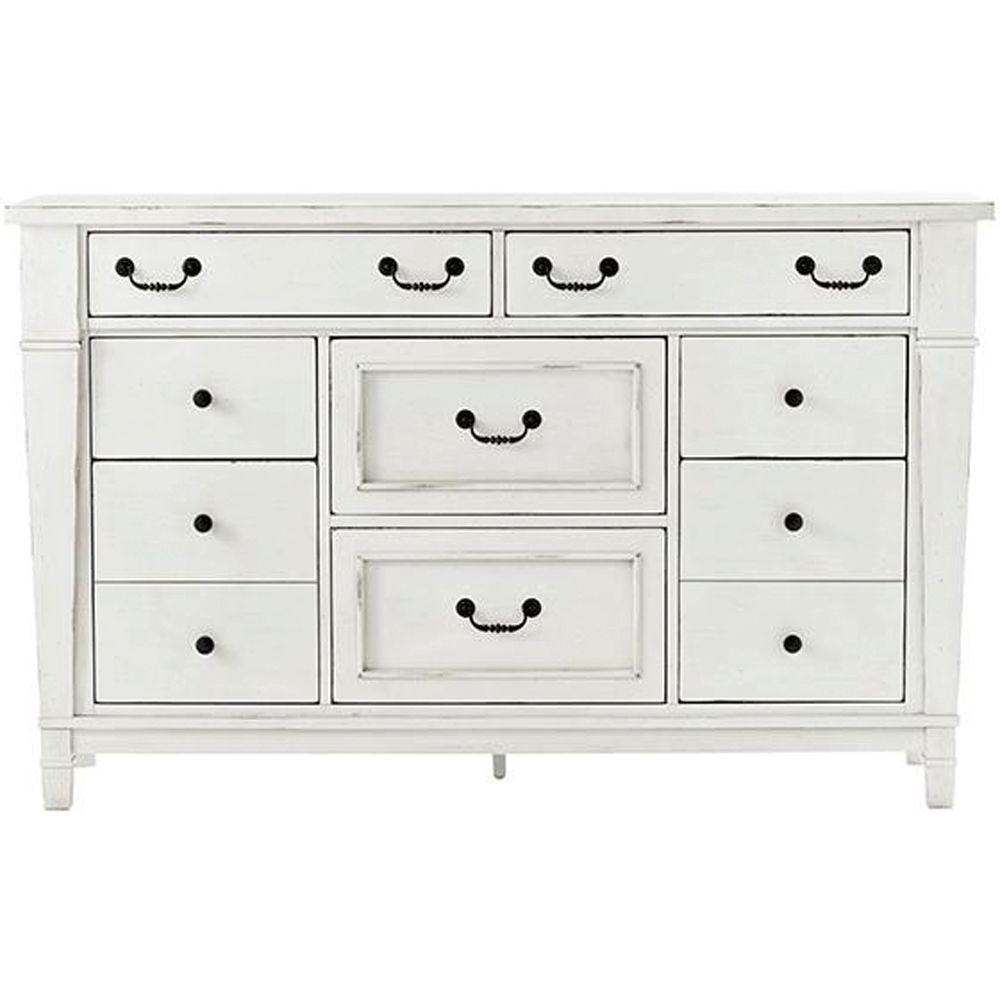 Unbranded Bridgeport 8 Drawer Antique White Dresser 1872600460