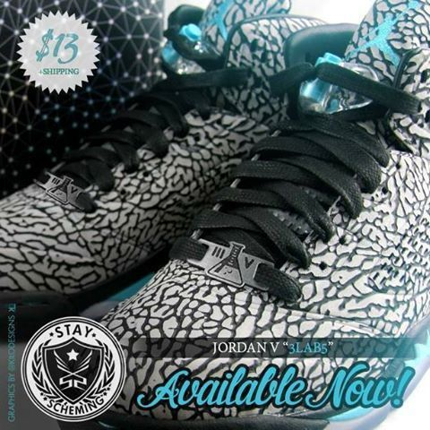 5b1e5dfb8deac7 3lab5 lace accessories! Comes with one set silver black and a free  blue white set! Match your 3 lab 5 Jordans with our lacelocks!