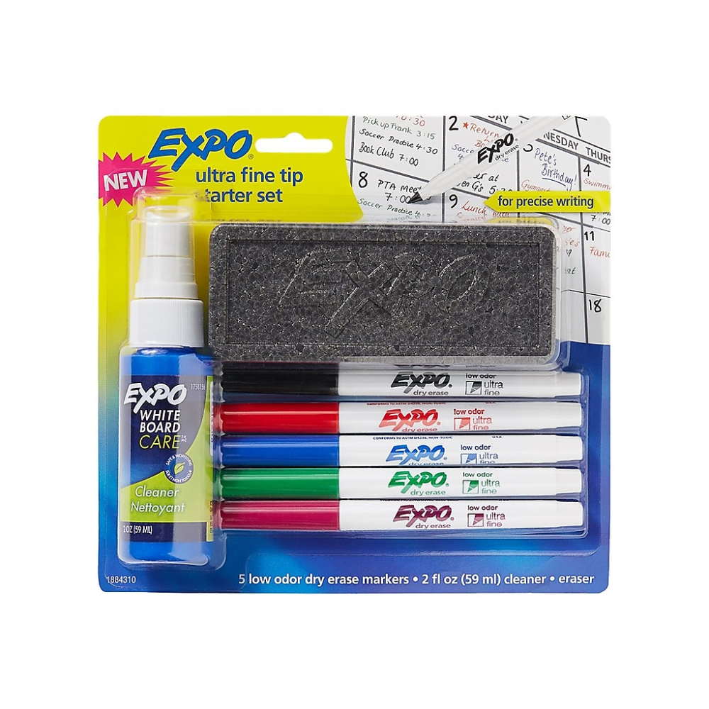 Expo Dry Erase Markers Ultra Fine Tip Assorted Ink 5 Set 1884310 Staples Dry Erase Markers Dry Erase Markers Set