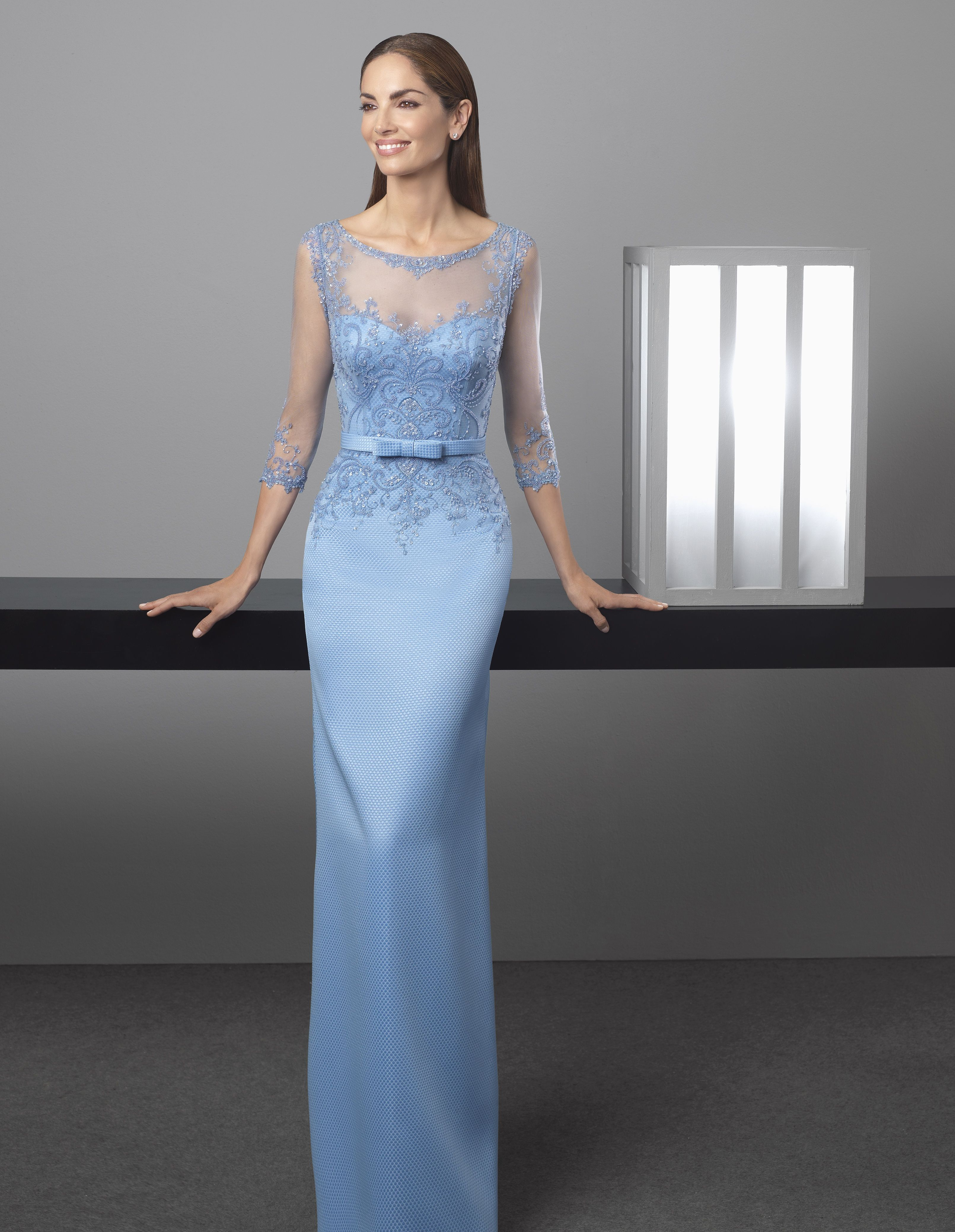 184f659d7 Vestido azul celeste de Rosa Clará Wedding-Guest Dresses