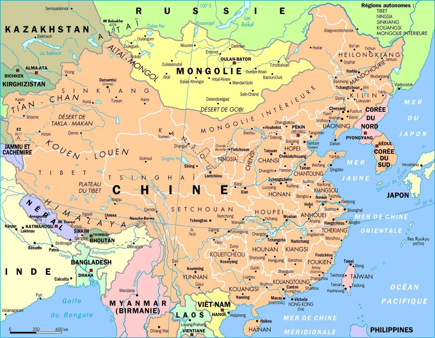 Kort Over Kina Beijing Shanghai Kort