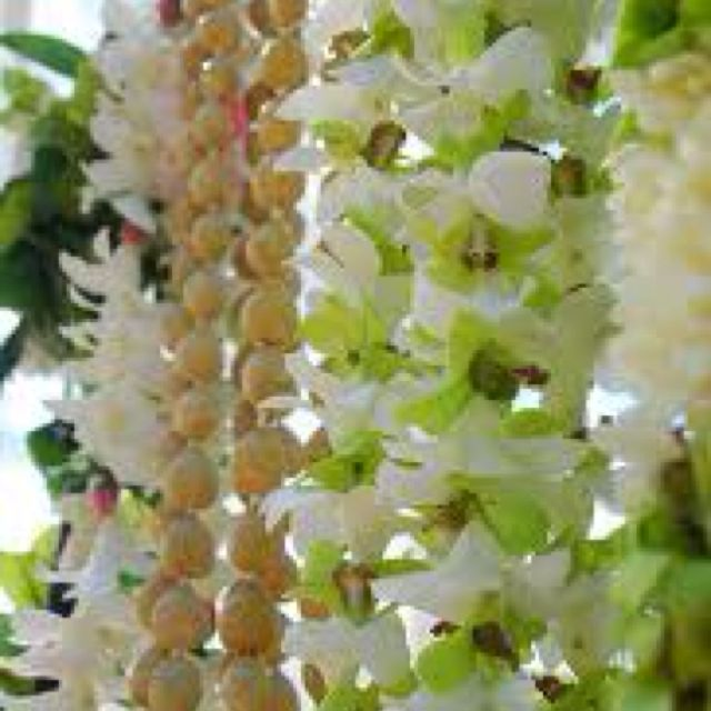 Wedding leis.