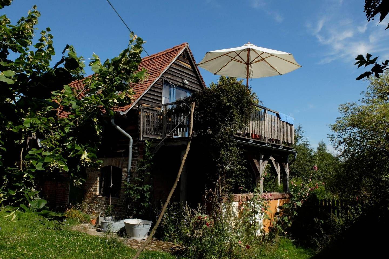 Backsteinhäuschen mit Ausblick Uckermark Häuser zur